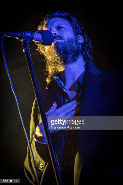 Joshua Michael 'Josh' Tillman AKA Father John Misty performs at Fabrique on stage on November 16 2017 in Milan Italy