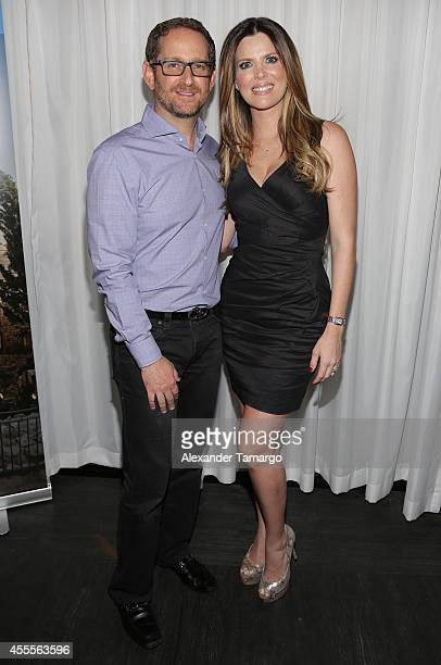 Joshua Mintz and Maritza Rodriguez attend The Israel Ministry of Tourism Reception at Briza on the Bay on September 16 2014 in Miami Florida