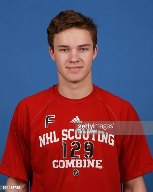 Joshua Norris poses for a headshot at the NHL Combine at HarborCenter on June 1 2017 in Buffalo New York