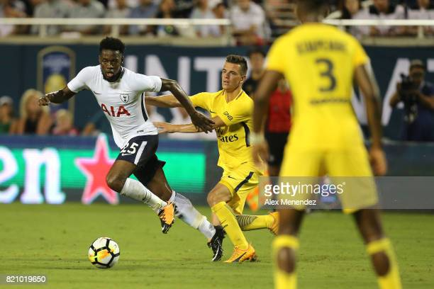 Joshua Onomah of Tottenham Hotspur chases the ball during the International Champions Cup 2017 match between Paris SaintGermain and Tottenham Hotspur...
