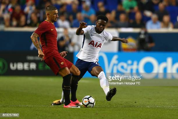 Joshua Onomah of Tottenham Hotspur in action against the Roma during the International Champions Cup 2017 at Red Bull Arena on July 25 2017 in...