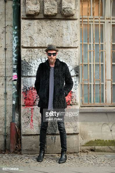 Joshua poses for photographs during the MercedesBenz Fashion Week Berlin A/W 2017 at Kaufhaus Jandorf on January 19 2017 in Berlin Germany