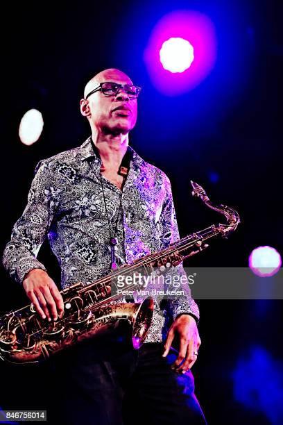 Joshua Redman Performs at Jazz Middelheim Festival on August 03 2017 in Antwerp Belgium