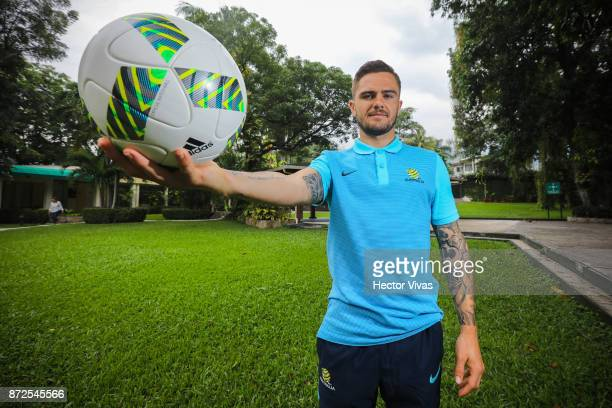 Joshua Risdon of Australia poses during an exclusive portrait session at Hilton Hotel ahead of the leg 1 of FIFA World Cup Qualifier Playoff against...