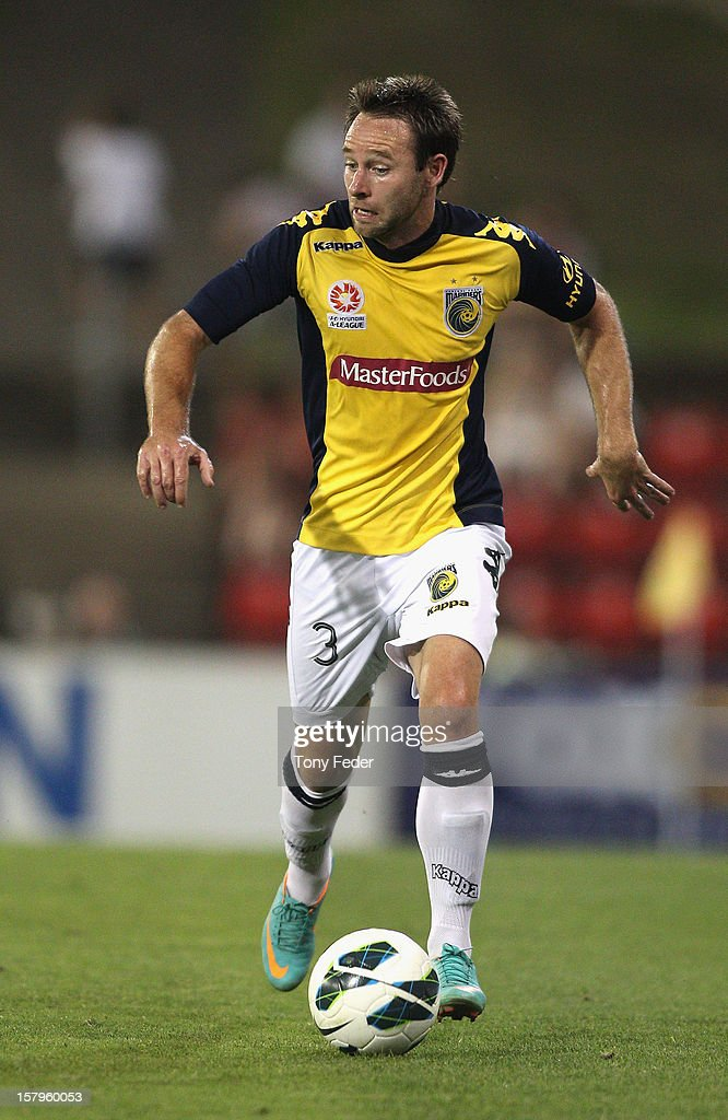 Joshua Rose of the Mariners controls the ball during the round ten A-League match between the Newcastle Jets and the Central Coast Mariners at Hunter Stadium on December 8, 2012 in Newcastle, Australia.