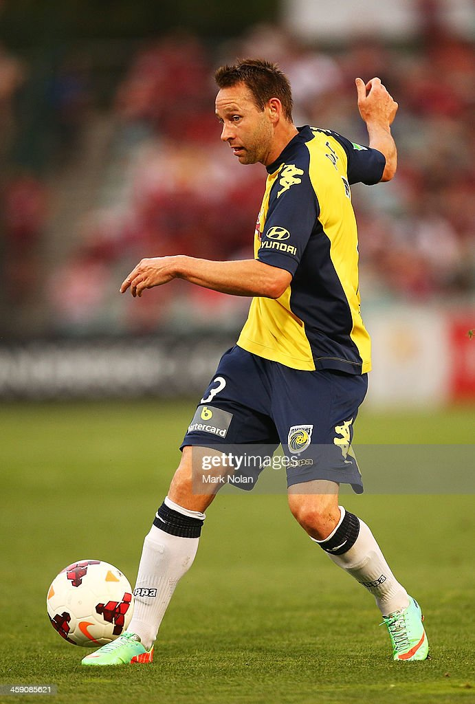 Joshua Rose of the Mariners in action during the round 11 A-League match between the Western Sydney Wanderers and the Central Coast Mariners at Parramatta Stadium on December 23, 2013 in Sydney, Australia.