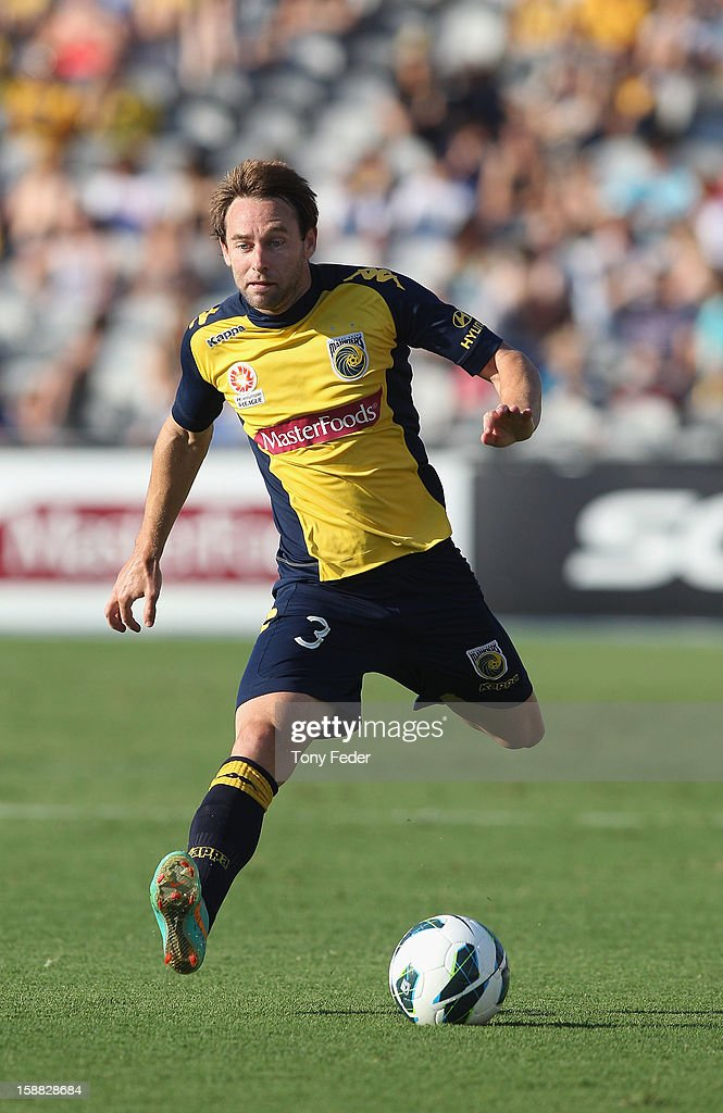 Joshua Rose of the Mariners in action during the round 14 A-League match between the Central Coast Mariners and the Perth Glory at Bluetongue Stadium on December 31, 2012 in Gosford, Australia.