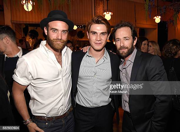 Joshua Sasse KJ Apa and Luke Perry attend The CW Network's 2016 Upfront party at Park Avenue Spring on May 19 2016 in New York City