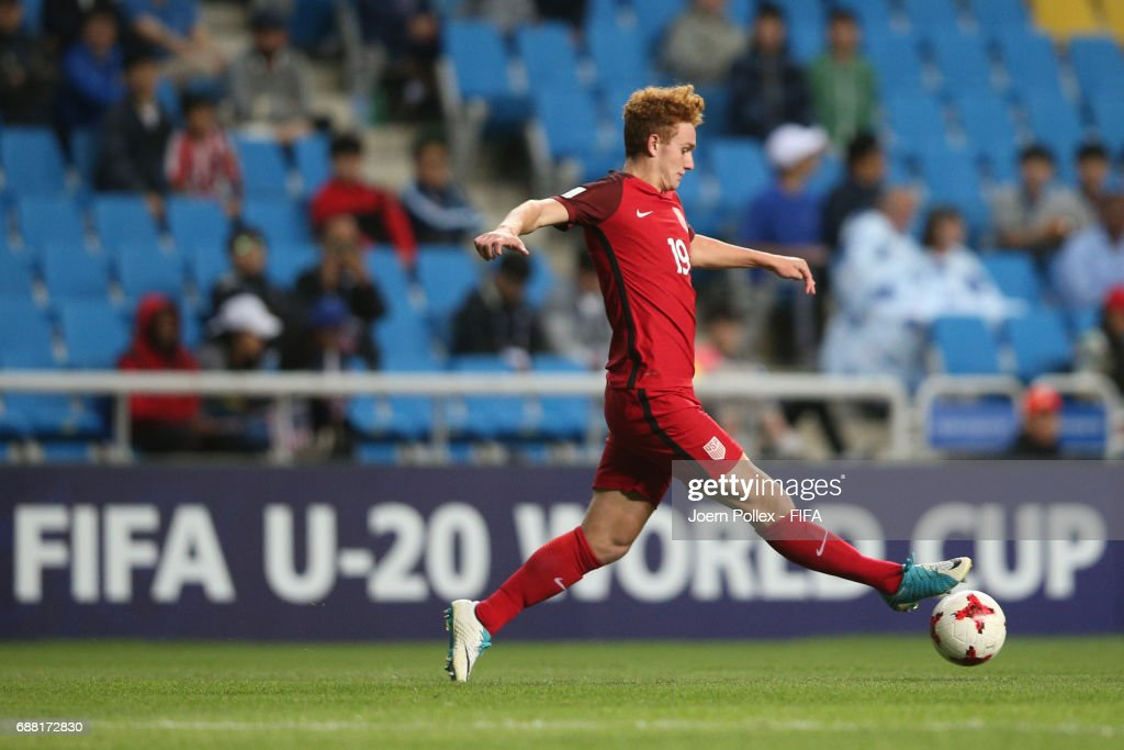 Joshua Sergant of USA controls the ball during the FIFA U-20 World Cup Korea Republic 2017 group F match between Senegal and USA at Incheon Munhak Stadium on May 25, 2017 in Incheon, South Korea.