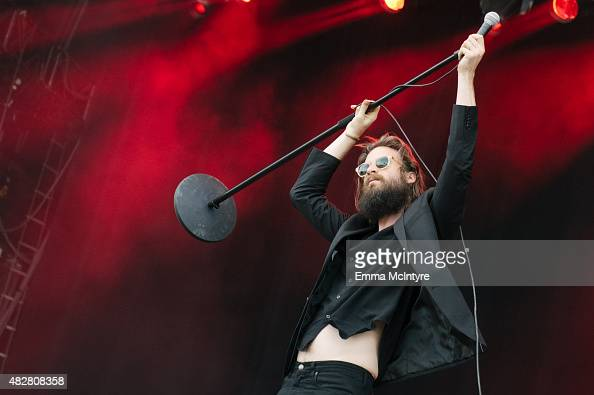 Joshua Tillman aka Father John Misty performs live on Day Three of the Osheaga Music and Arts Festival on August 2 2015 in Montreal Canada