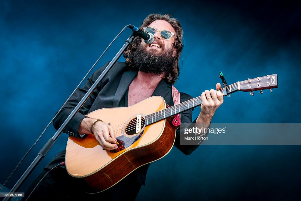Joshua Tillman aka Father John Misty performs on Day 3 of the Osheaga Music and Art festival on August 2, 2015 in Montreal, Canada.