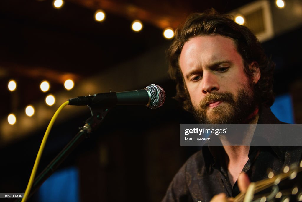 Joshua Tillman of Father John Misty performs an End Session for 107.7 The End at the Gibson Showroom on January 27, 2013 in Seattle, Washington.