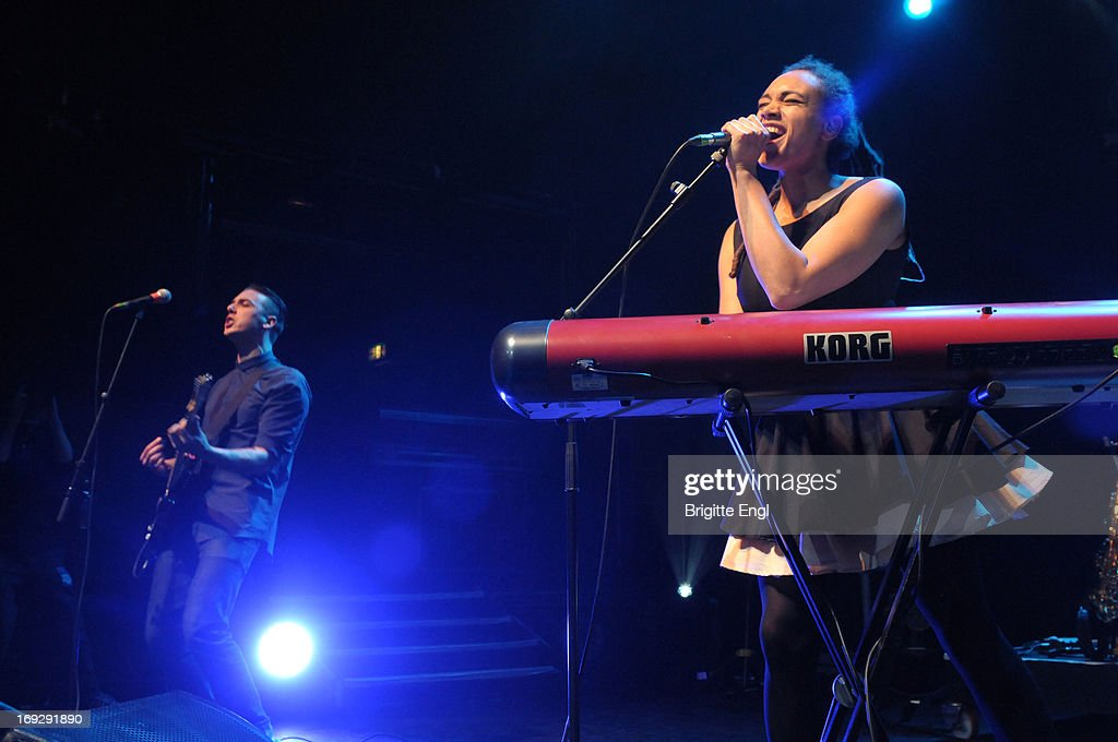 Joshua Water Rudge and Marcia Richards of The Skints perform on stage at KOKO on May 22, 2013 in London, England.