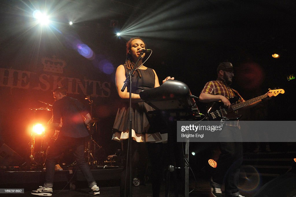 Joshua Waters Rudge, Marcia Richards and Jonathan Doyle of The Skints perform on stage at KOKO on May 22, 2013 in London, England.