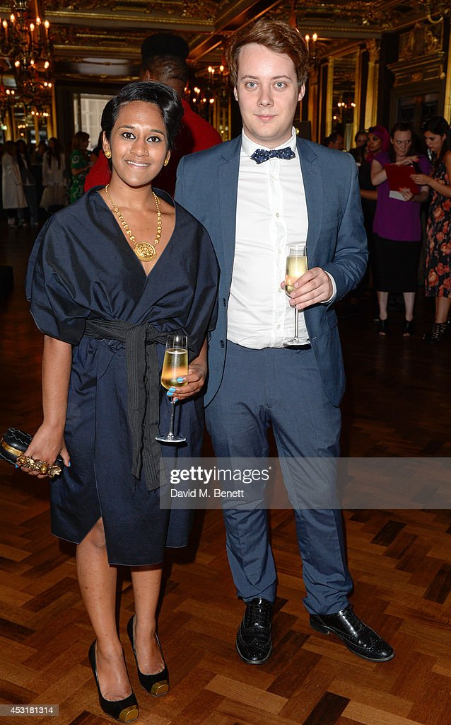 Joshua White (L) attends the VIP charity event, which Drapers and WGSN Group, partnered with Parsons The New School for Design and the British Fashion Council to hold, in aid of the Prince's Trust Million Makers on August 4, 2014 in London, England. The event saw the launch the acclaimed book 'The School of Fashion: 30 Parsons Designers' by Simon Collins, Dean of Fashion at Parsons. The richly-illustrated volume explores the legacy of Parsons through the testimony of its brightest alumni, with interviews and sketches from Donna Karan, Alexander Wang, Jack McCullough and Lazaro Hernandez of Proenza Schouler, and many others.