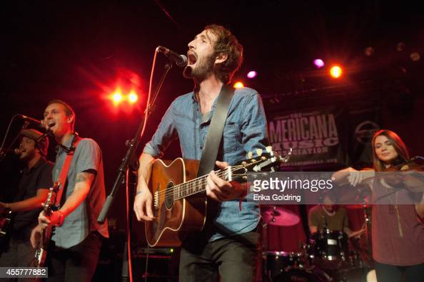 Joshua Wilkerson Geoff Ice and Josh Jennkins of Green River Ordinance perform at Mercy Lounge on September 19 2014 in Nashville Tennessee