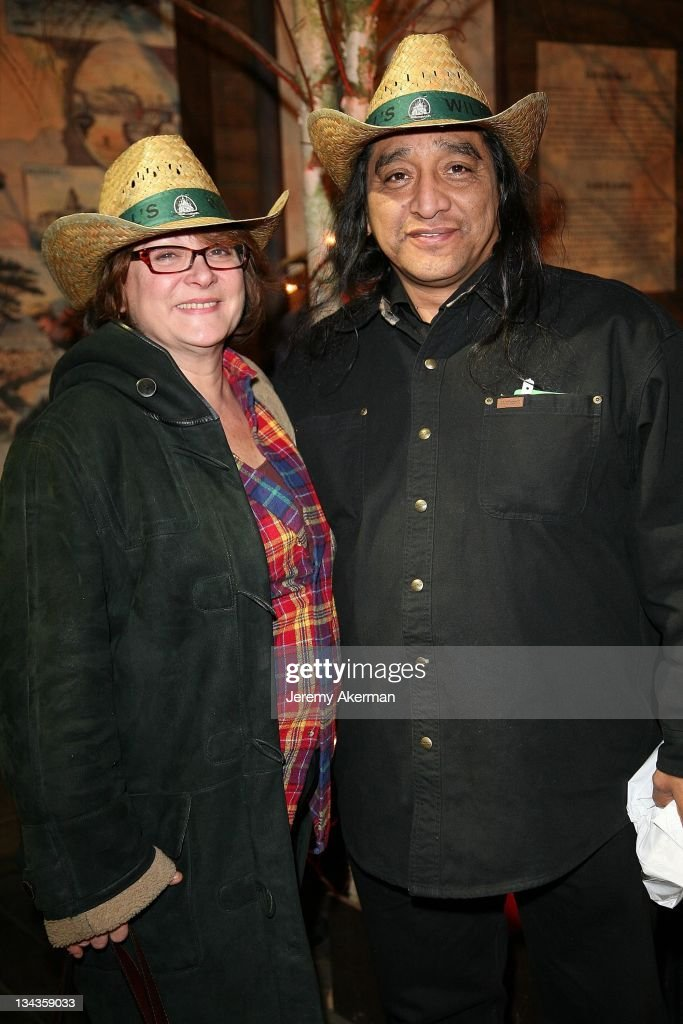 Josiane Balasko and an unidentified guest attend the Buffalo Bill Wild West Show at Euro Disney Village on November 30 2007 in Marne La Vallee France