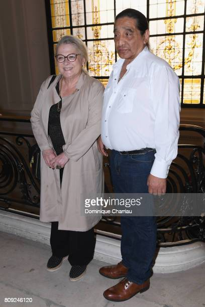 Josiane Balasko and George Aguilar attend the Jean Paul Gaultier Haute Couture Fall/Winter 20172018 show as part of Haute Couture Paris Fashion Week...