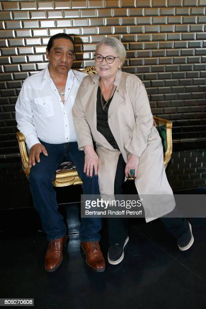 Josiane Balasko and her husband George Aguilar attend the Jean Paul Gaultier Haute Couture Fall/Winter 20172018 show as part of Haute Couture Paris...