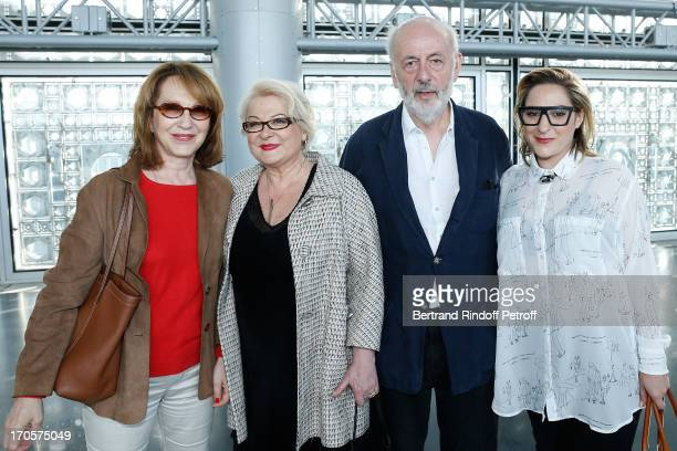 Josiane Balasko with her daughter Marilou Berry actress Nathalie Baye and director Bertrand Blier Actress Josiane Balasko receives the Medal of Arts...