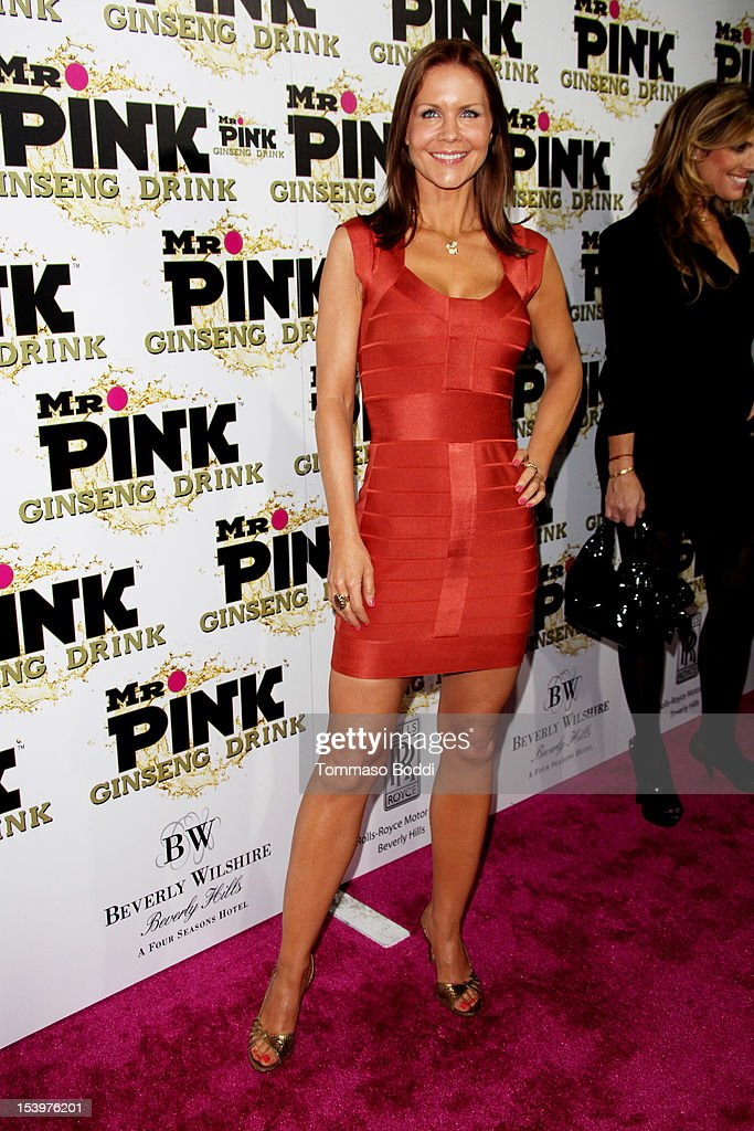 Josie Davis attends the Mr. Pink ginseng drink launch party held at the Regent Beverly Wilshire Hotel on October 11, 2012 in Beverly Hills, California.