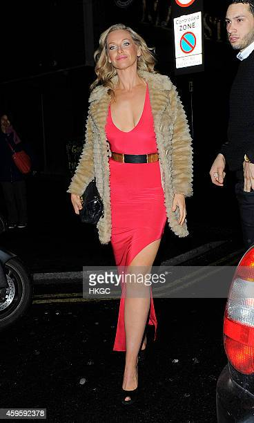 Josie Gibson arrives at the NOW Magazine Christmas party at The Drury Club on November 25 2014 in London England