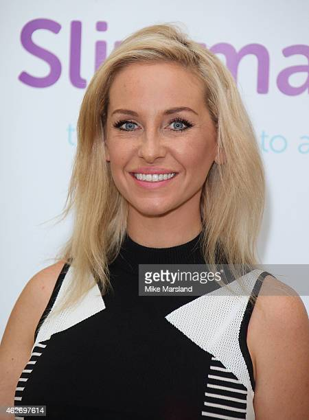 Josie Gibson attends a photocall to launch her new diet website 'Slimmables' at The Landmark Hotel on February 3 2015 in London England
