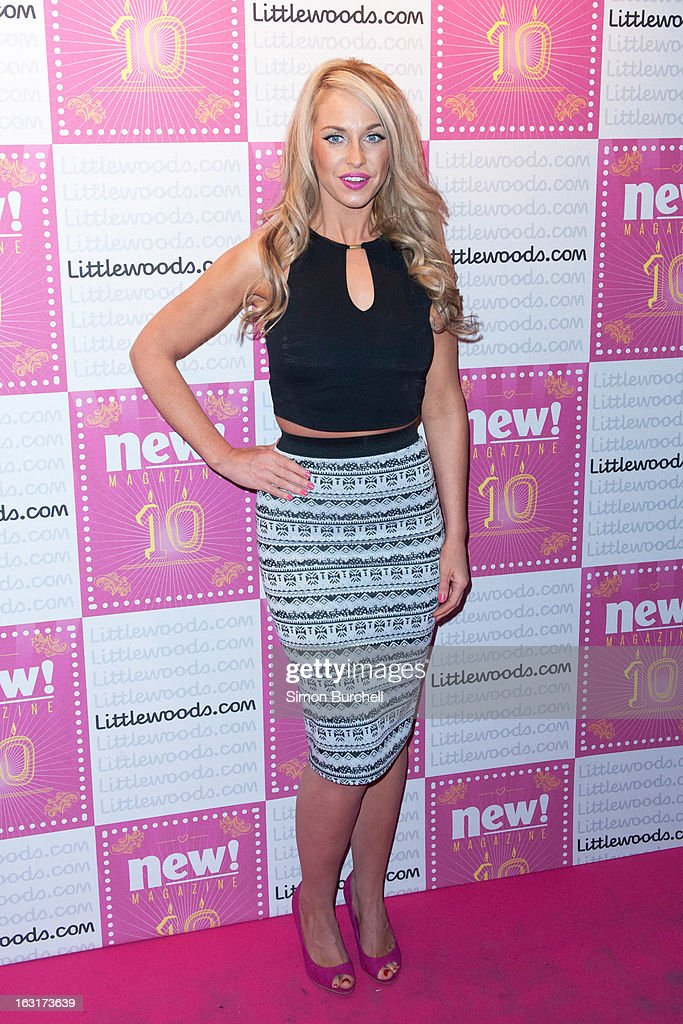 Josie Gibson attends as New magazine celebrate 10 years in print at Gilgamesh on March 5, 2013 in London, England.