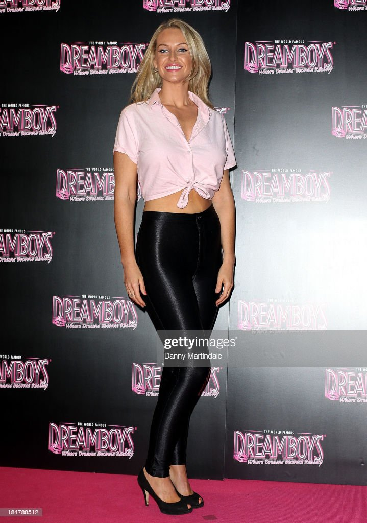 <a gi-track='captionPersonalityLinkClicked' href=/galleries/search?phrase=Josie+Gibson&family=editorial&specificpeople=7045607 ng-click='$event.stopPropagation()'>Josie Gibson</a> attends as the Dreamboys hold a Gala performance at Rise Supperclub on October 16, 2013 in London, England.
