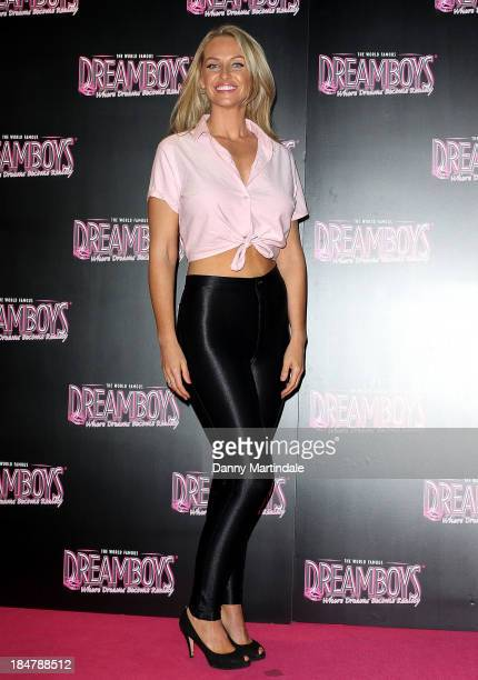 Josie Gibson attends as the Dreamboys hold a Gala performance at Rise Supperclub on October 16 2013 in London England