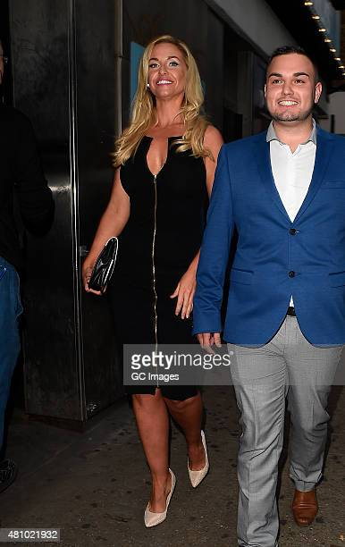 Josie Gibson attends In The Style's Summer Part at The Drury Club on July 16 2015 in London England