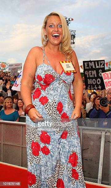 Josie Gibson enters The Big Brother House for the 11th and final series at Elstree Studios on June 9 2010 in Borehamwood England