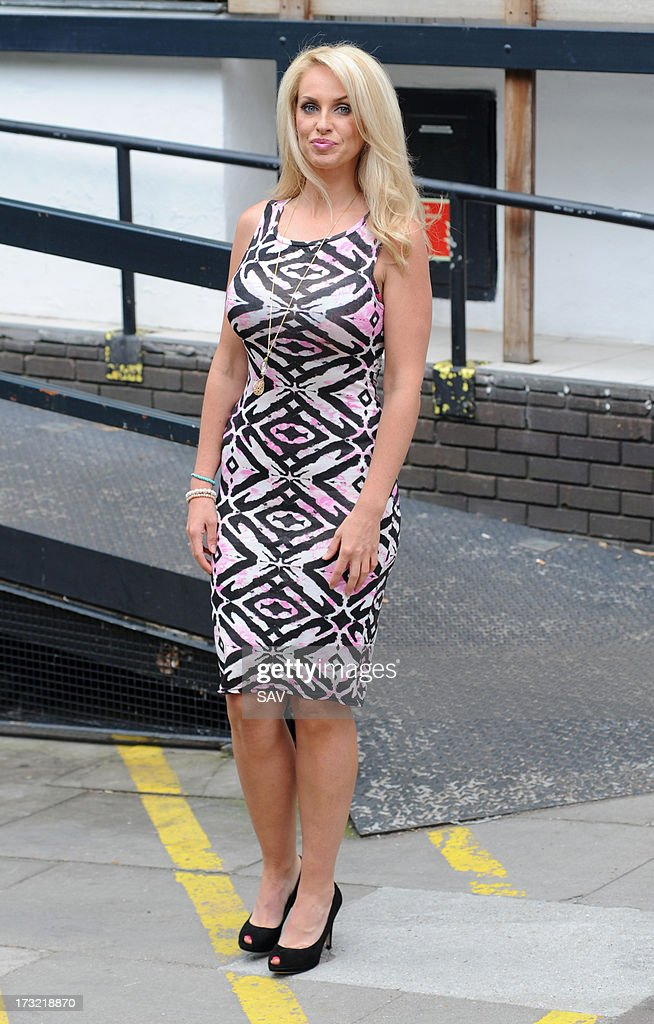 Josie Gibson pictured outside the ITV studios on July 10, 2013 in London, England.