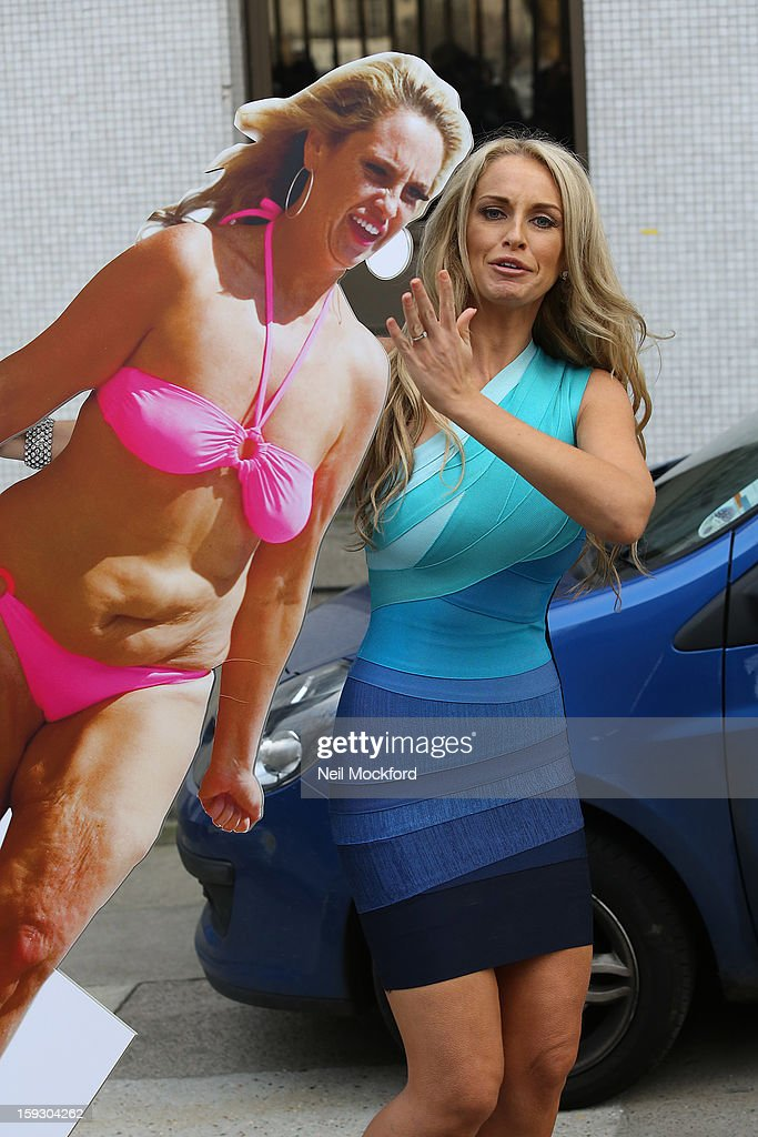 Josie Gibson seen leaving the ITV Studios after appearing on Loose Women on January 11, 2013 in London, England.