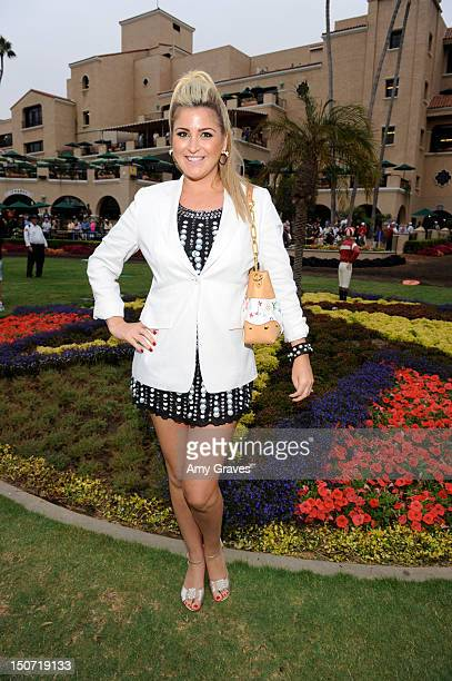Josie Goldberg attends her third race with her horse 'Only Josie Knows'at Del Mar Race Track on August 24 2012 in Del Mar California