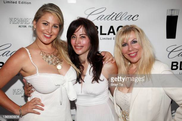 Josie Goldberg Laura Fazzolare and Sandi Margolis attend Cadillac fragrance celebrity white party introducing Kenneth Monroe at Style Lounge on June...