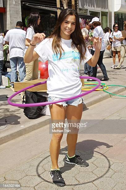 Josie Loren attends the American Cancer Society's 'Choose Your Movement' event held at 3rd Street Promenade on May 11 2012 in Santa Monica California