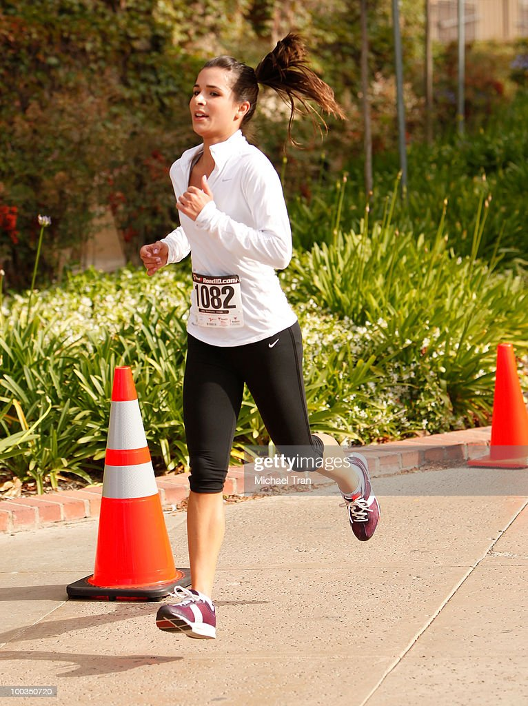Josie Loren crosses the finish line at the 11th Annual 5K Mattel Children's Hospital UCLA Benefit held at UCLA Campus on May 23, 2010 in Westwood, California.