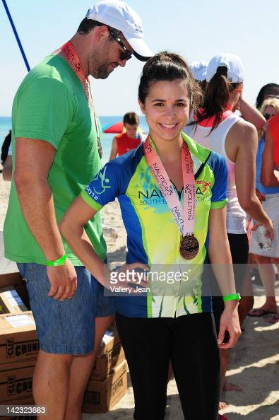 Josie Loren participates in the 5th Annual Nautica South Beach Triathlon to benefit St Jude Children's Research Hospital on April 1 2012 in Miami...