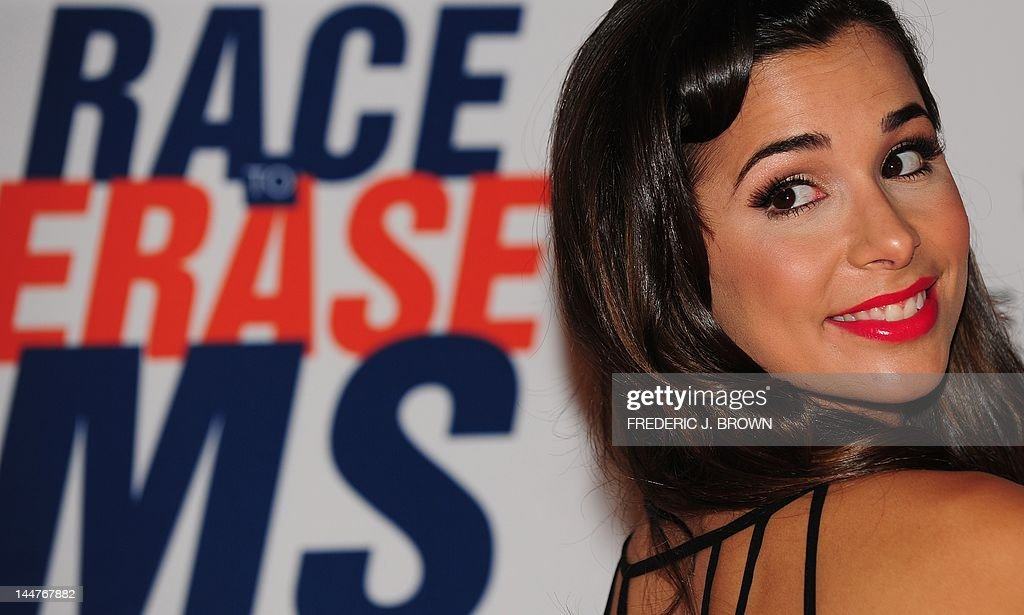 Josie Loren poses on arrival for the 19th Annual Race to Erase MS themed 'Glam Rock to Erase MS' in Los Angeles on May 18, 2012. The event benefits the Nancy Davis Foundation for Multiple Sclerosis and the Center Without Walls program which continues to raise funds to provide treatment and ultimately find a cure for MS. AFP PHOTO/Frederic J. BROWN