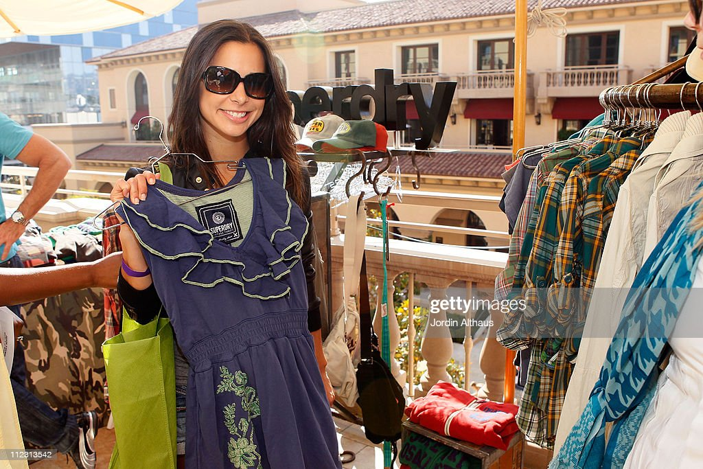 Josie Loren poses with Superdry at the Kari Feinstein MTV Movie Awards Style Lounge held at Montage Beverly Hills on June 4, 2010 in Beverly Hills, California.