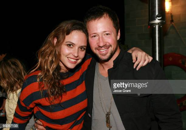 Josie Maran and Alternative Apparel owner Greg Alterman attend the Alternative Apparel Launch of ReThink Vol 2 at Petit Ermitage Hotel on November 19...