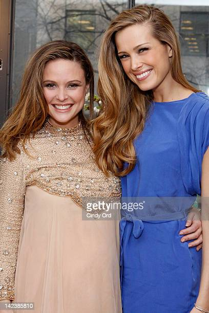 Josie Maran and Petra Nemcova attend Josie Maran's 'Doing Good Is A Beautiful Thing' event at Sephora Fifth Avenue on April 3 2012 in New York City