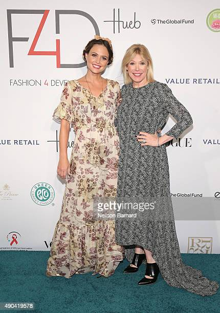 Josie Maran and President of the Environmental Media Association Debbie Levin attend the Fashion 4 Development's 5th annual Official First Ladies...