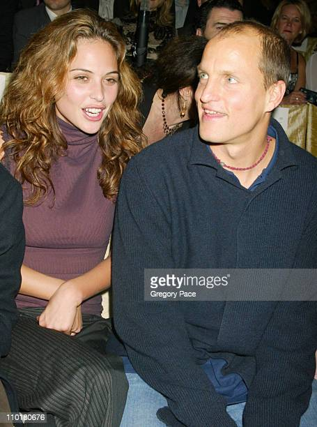 Josie Maran and Woody Harrelson during The 8th Annual Victoria's Secret Fashion Show Arrivals and Front Row at Lexington Avenue Armory in New York...