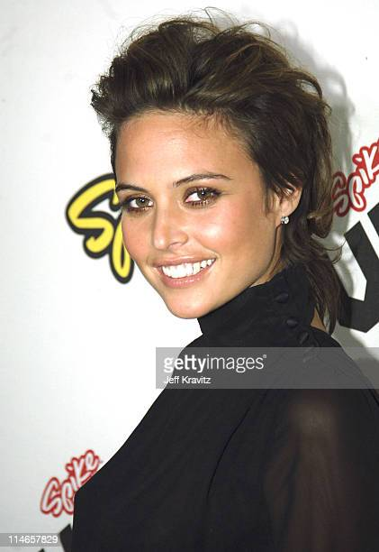 Josie Maran during 2005 Spike TV Video Game Awards Red Carpet at Gibson Amphitheater in Universal City California United States