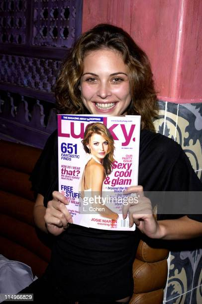 Josie Maran during Lucky Magazine Celebrates Publication of 'The Lucky Shopping Manual' at Spider Club in Hollywood California United States