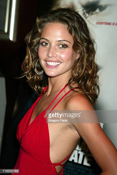 Josie Maran during 'The Manchurian Candidate' World Premiere Inside Arrivals at Beekman Theater in New York City New York United States