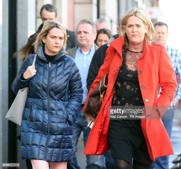 Josie McCallion and Patricia O'Brien sisters of Mairead McCallion who was found dead with head injuries at a house in Omagh in 2014 leaving her...