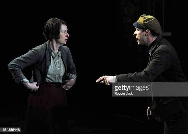 Josie Walker as Mrs Gogan and Tom VaughanLawlor as The Covey in Seán O'Casey's The Plough and the Stars directed by Howard Davies and Jeremy Herrin...